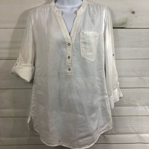 INC white linen shirt